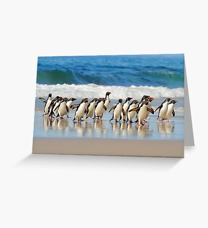 The Boys Are Back In Town Greeting Card