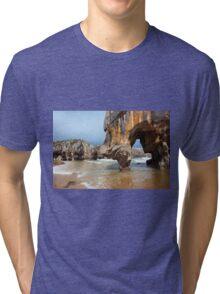 Beach of Caves of the sea Tri-blend T-Shirt