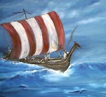 A  Viking Long Boat by tusitalo
