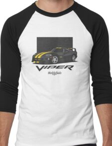 Dodge Viper GTS (black/yellow) Men's Baseball ¾ T-Shirt