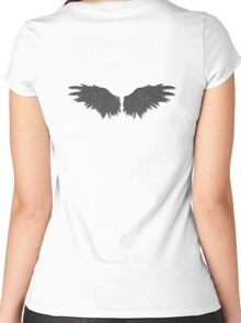 Demonic wings Women's Fitted Scoop T-Shirt