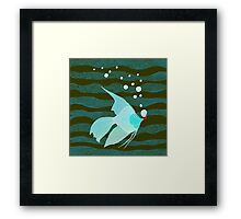 Bubble Fish Red Pipe Framed Print