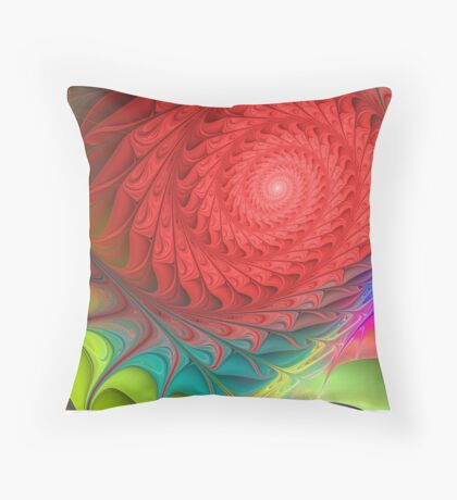 Colourful shapes and patterns Throw Pillow
