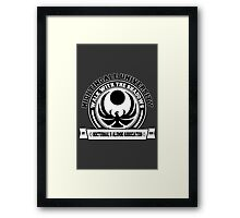 Nightingale University - Black - Skyrim Framed Print