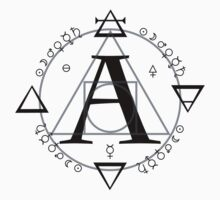 A is for Alchemy (Simple)  One Piece - Short Sleeve