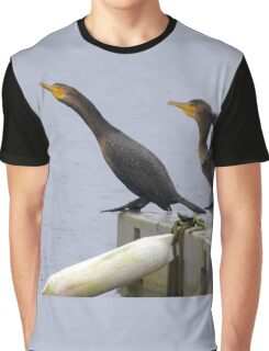 Cormorants diving into lake Graphic T-Shirt