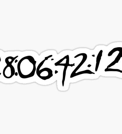 """Donnie Darko """"28:06:42:12 - World's End"""" Sticker"""