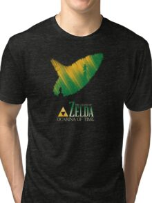 The legend of zelda ocarina of time Tri-blend T-Shirt