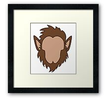 Werewolf Halloween Monster Framed Print