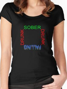 'Sober-Drunk-Falling'   -  T Shirt Women's Fitted Scoop T-Shirt