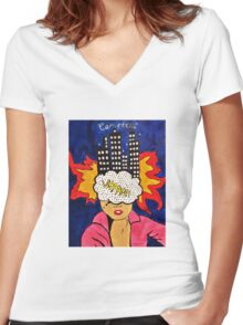 WHAAM Women's Fitted V-Neck T-Shirt