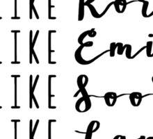 Live Like Gilmore Girls Sticker