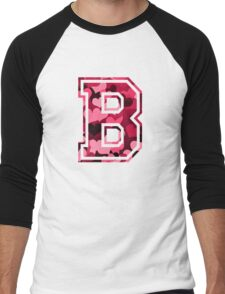 College letter B with hearts pattern Men's Baseball ¾ T-Shirt