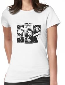 B&W BtVS Trio Womens Fitted T-Shirt
