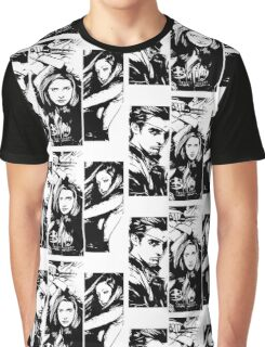 B&W BtVS Trio Graphic T-Shirt
