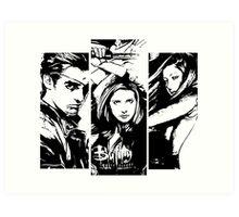 B&W BtVS Trio Art Print