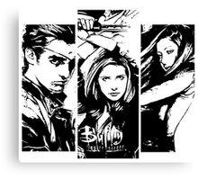 B&W BtVS Trio Canvas Print