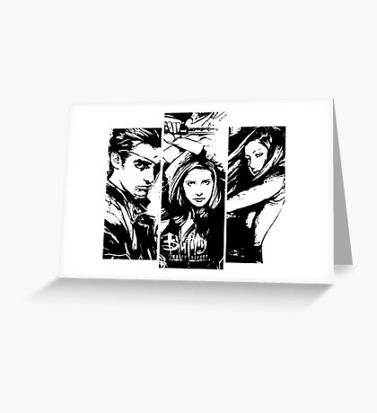 B&W BtVS Trio Greeting Card