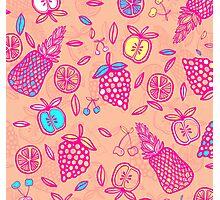 Tutti Frutti on Orange Sorbet Photographic Print