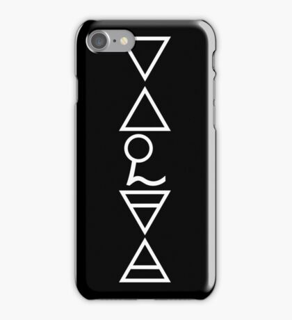 Ghost - Nameless Ghouls Alchemy Symbols iPhone Case/Skin