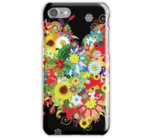 Floral heart with flowers iPhone Case/Skin