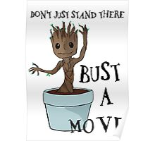 Bust a Move Baby Groot Poster