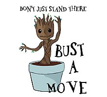 Bust a Move Baby Groot Photographic Print