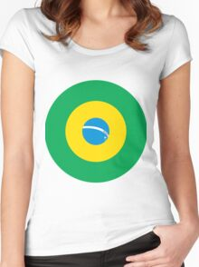 Brazilian Mod Bullseye Women's Fitted Scoop T-Shirt