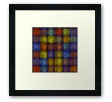 Seamless knitted pattern  Framed Print