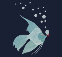 Bubble Fish Red Pipe Kids Clothes