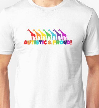 Autistic & Proud w/ Giraffes T-Shirt
