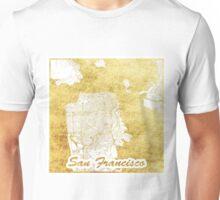 San Francisco Map Gold Unisex T-Shirt