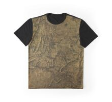 Military Map 1864 Graphic T-Shirt