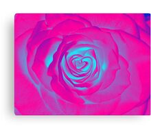 Psychedelic Rose pink n blue Canvas Print
