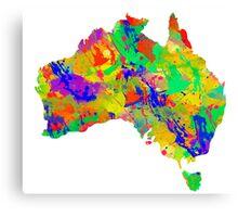 Australia Watercolor Map Canvas Print