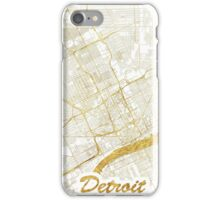Detroit Map Gold iPhone Case/Skin