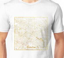 Berlin Map Gold Unisex T-Shirt