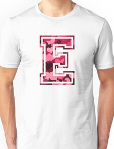College letter E with hearts pattern Unisex T-Shirt