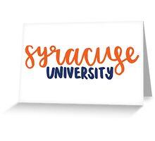 syracuse university Greeting Card
