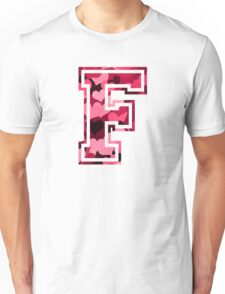 College letter F with hearts pattern Unisex T-Shirt