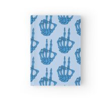 Peace Skeleton Hand - Blue Hardcover Journal