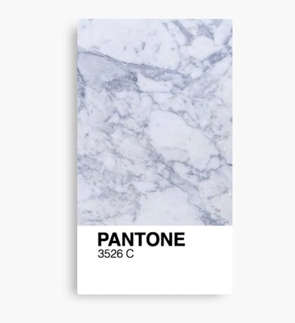 Marble Pantone  Canvas Print