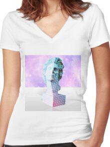 Aesthetic Vaporwave / YvngSlum Women's Fitted V-Neck T-Shirt