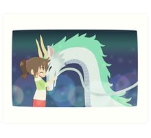 Spirited Away - Chihiro and Haku Art Print