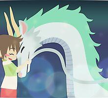 Spirited Away - Chihiro and Haku by chocominto