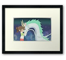 Spirited Away - Chihiro and Haku Framed Print