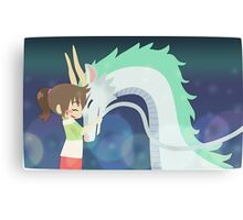Spirited Away - Chihiro and Haku Canvas Print