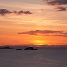 Sunset on Craigleith by Christopher Cullen