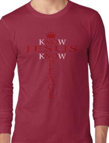 Know Jesus Know Peace Long Sleeve T-Shirt