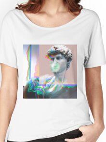 Vaporwave Glitch Aesthetics Women's Relaxed Fit T-Shirt